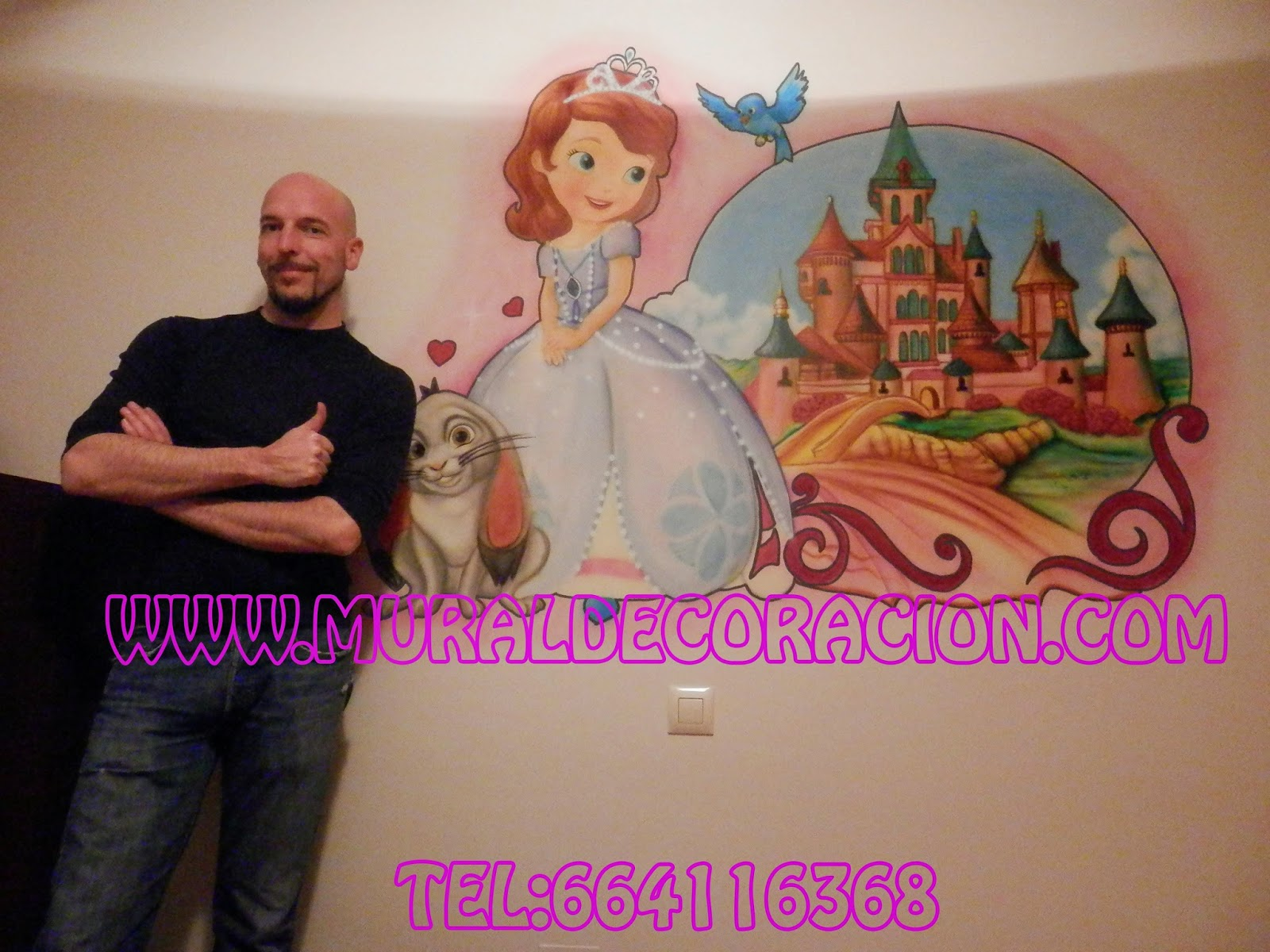 Princesa_sofía_mural_infantil