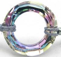 crystal macrame bracelet