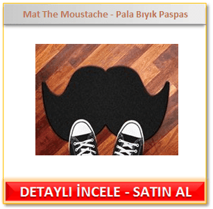 Mat The Moustache - Pala Bıyık Paspas