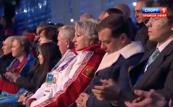 Медведев залёг в спячку прямо на Олимпиаде