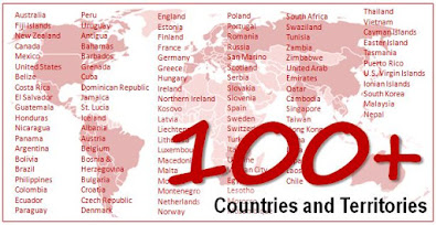 124 COUNTRIES & TERRITORIES TRAVELED