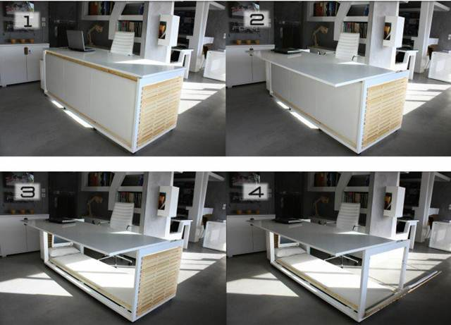 proses-tukar-meja-studio-jadi-katil