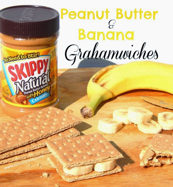 Skippy Natural Peanut Butter with Honey , Peanut Butter and Banana Sandwich, Peanut Butter Recipe, Peanut Butter Breakfast Ideas, Snack Ideas