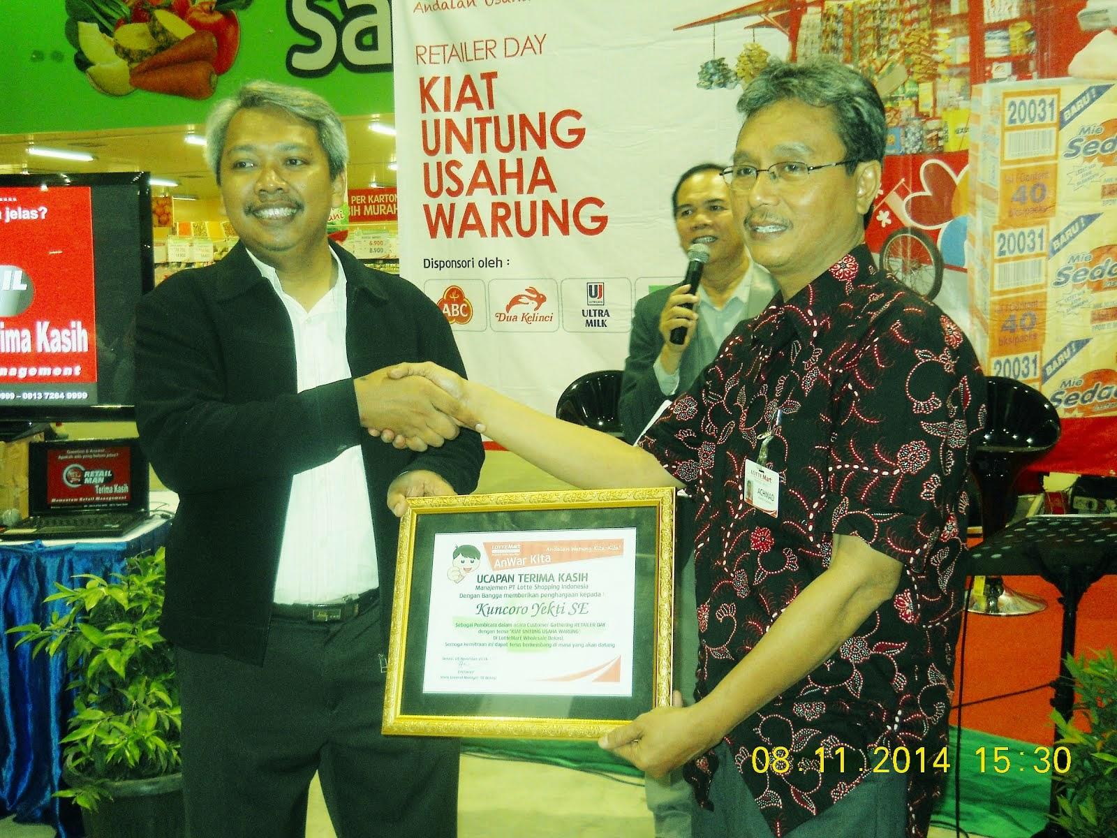 Memotivasi Retailer Seluruh Kota Bekasi di LotteMart Bekasi