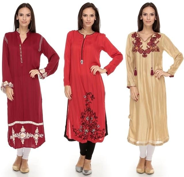 Pakistani Long Shirts Fashion With Leggings