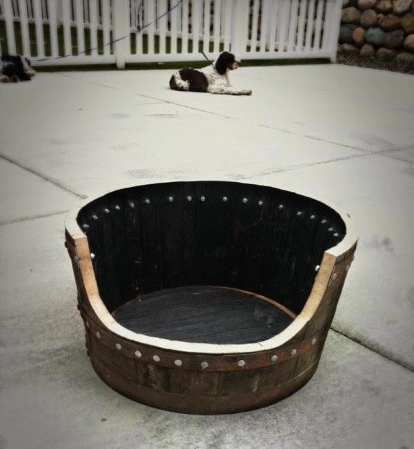 Cama para Perro con Tonel Reciclado, Paso a Paso