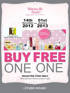 Buy 1 Free 1 at Etude House 2012 2013