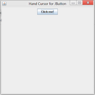 Hand Cursor for JButton