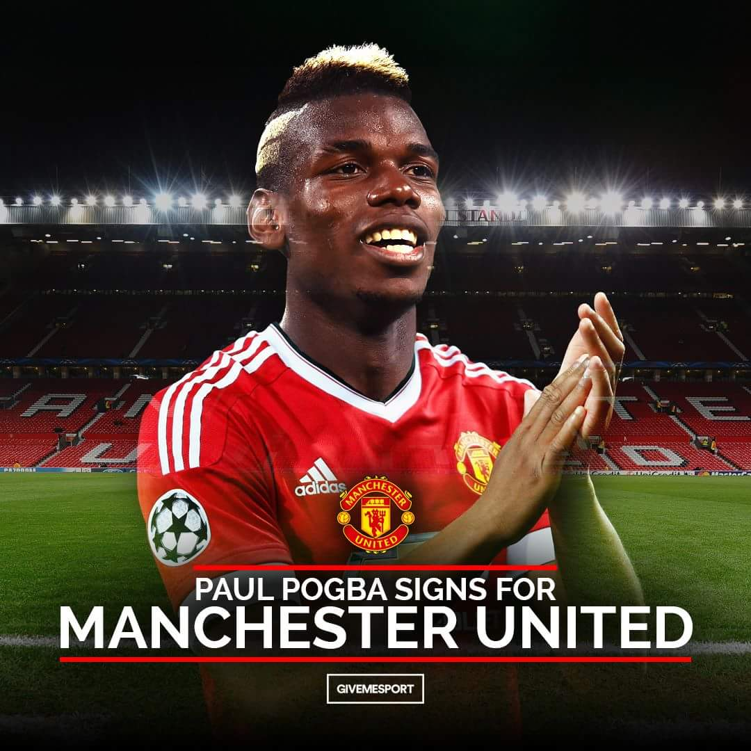 Man United breaks world transfer record to re-sign Pogba