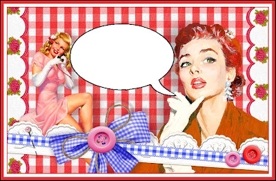 cabecera para blog retro con pin up y tonos fuertes