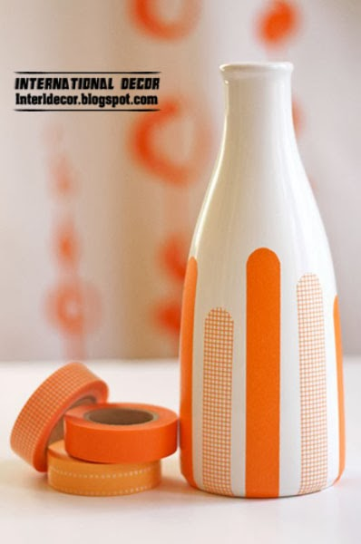 original vases orange, washi tape ideas and projects