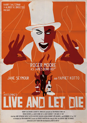 Live and Let Die James Bond  007 Movie Poster