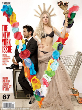 LADY GAGA V MAGAZINE COVER WITH MARC JACOBS