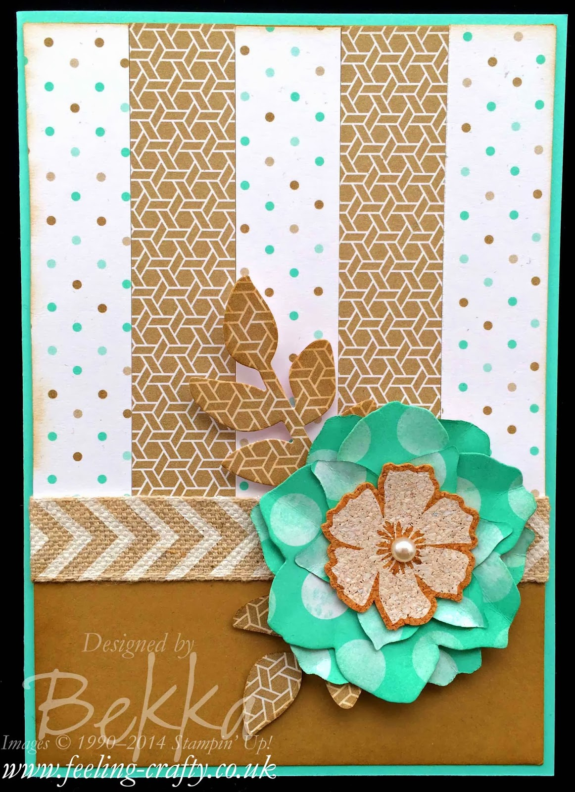 Fresh Prints Floral Card by UK based Stampin' Up! Demonstrator Bekka Prideaux - check out her blog for lots of great ideas!