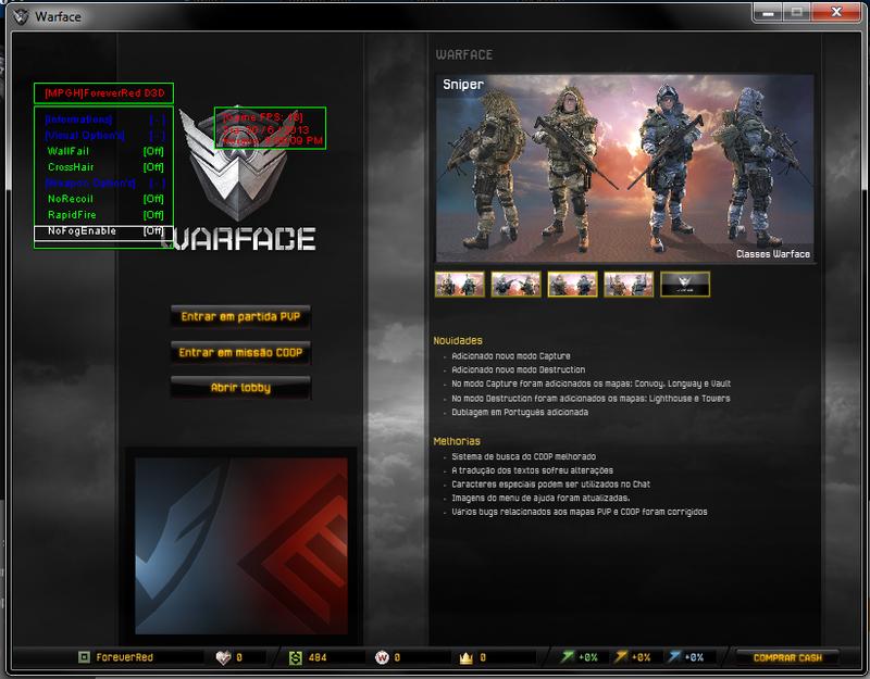 gnz WarFace Hile D3D Simple 2014 Oyun Botu indir