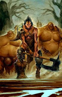 lukas thelin, fantasy, half ogre hero, ogre