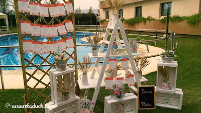 seating boda escalera