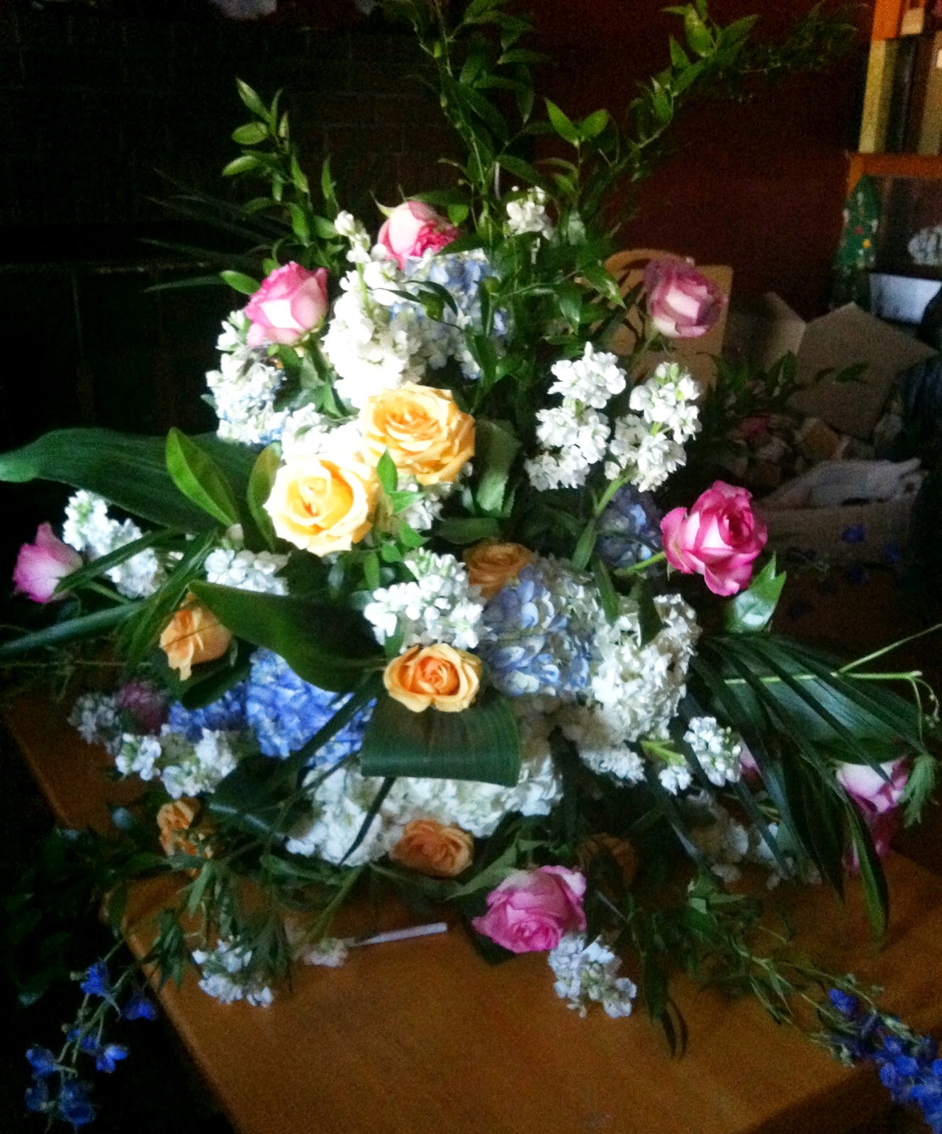 a page in time flower arrangements