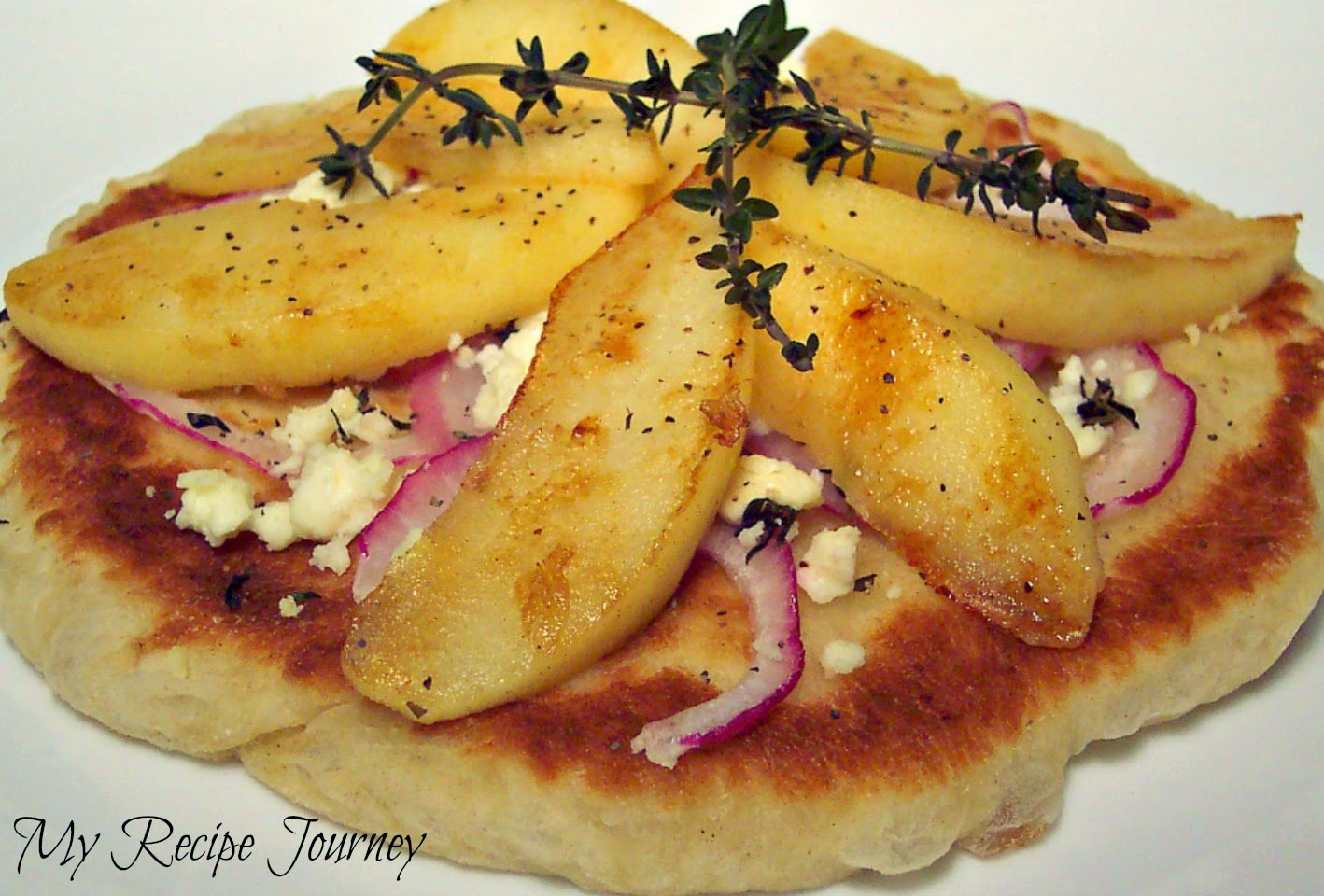 Apple and Feta Pan Fried Pizzas