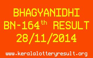 BHAGYANIDHI Lottery BN-164 Result 28-11-2014
