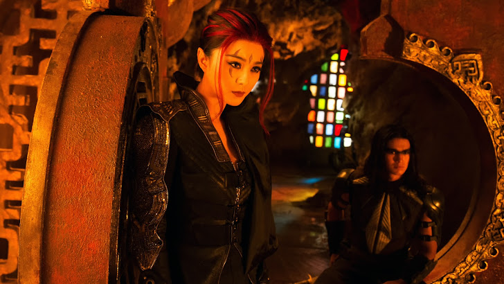 bingbing fan as blink and booboo stewart as warpath in x men days of future past