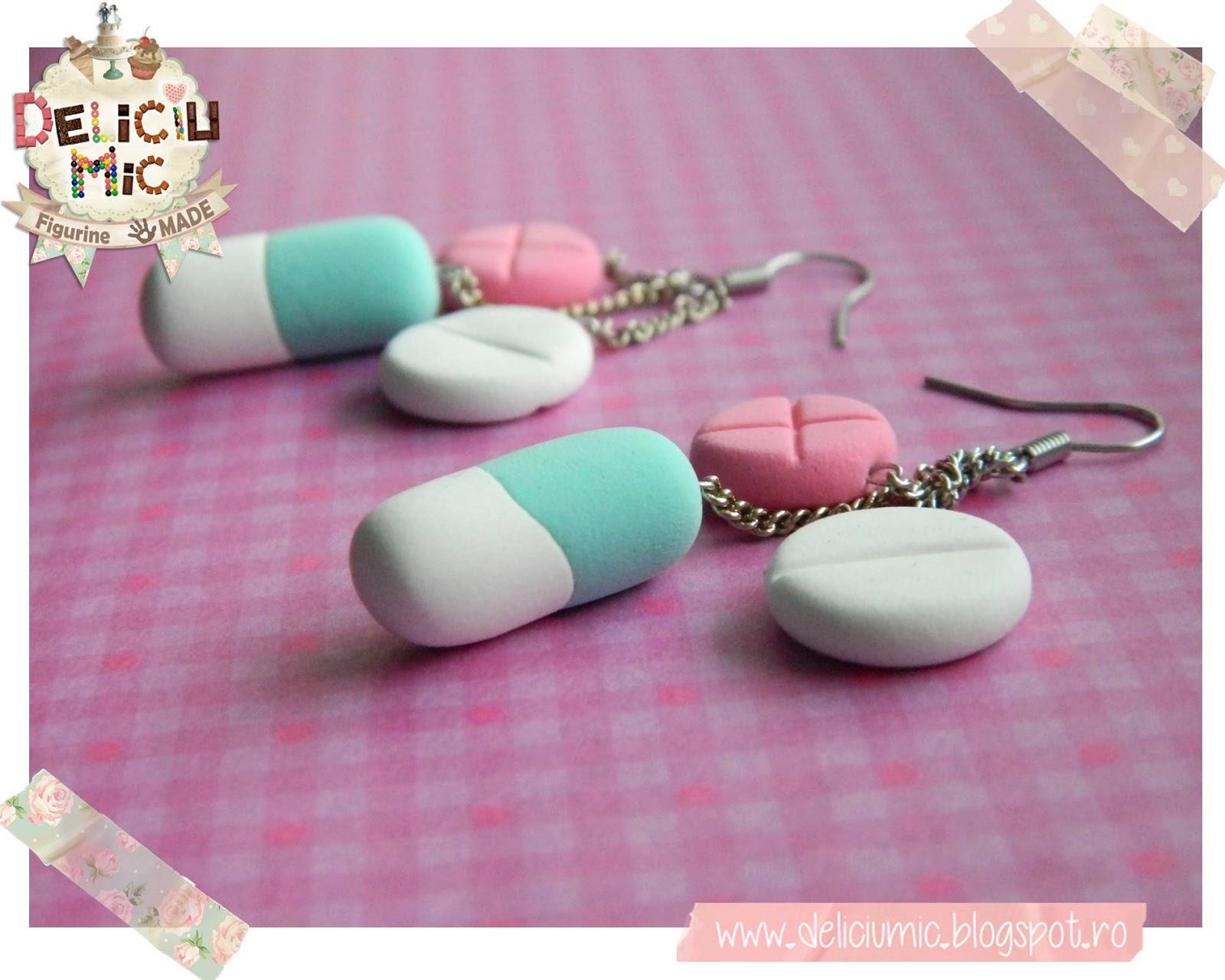 cercei handmade pastile