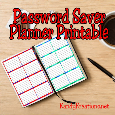 Stay organized this summer while on vacation with a printable password saver for your planner. Keep all your usernames and passwords with you so you can pay bills and solver problems while away from home.