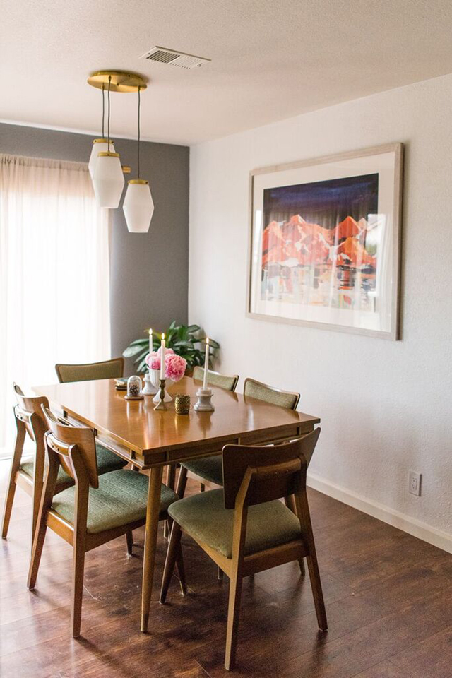 Client reveal mid century modern dining room michaela for Mid century modern dining rooms