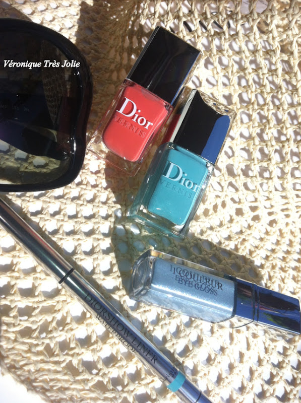 Christian Dior Make Up Croisette Summer Collection 2012 1 couleur eye gloss 240 Azur Diorshow liner waterproof 258 turquoise dior vernis 401 saint-tropeiz 231 bikini swatch swatches