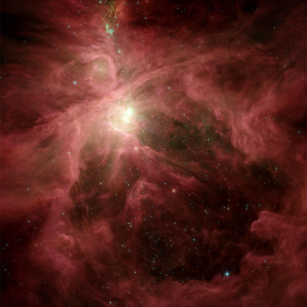 Spitzer Space Telescope view of the Orion Nebula!