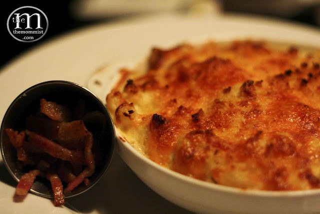 Baked macaroni with Gruyere, Cheddar, Mozzarella cheeses