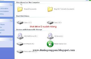 Cara menyembunyikan File dengan Hidden Drive A, B, C, D di Komputer