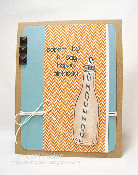 Poppin' by to Say Happy Birthday-designed by Lori Tecler-Inking Aloud-stamps from Fresh Squeezed Stamps