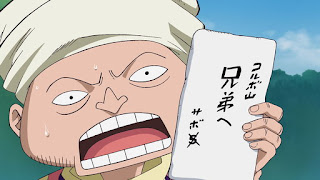 One Piece 503 sub, Take Good Care of Him! A Letter from the Brother! , よろしく頼む! 兄弟から届いた手紙!, letter from sabo