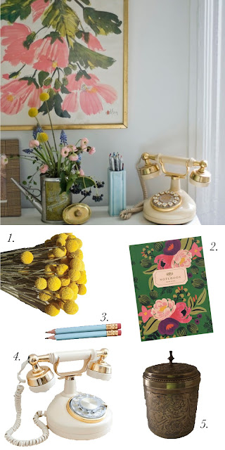 WORKSPACE WEDNESDAY: VINTAGE FLORALS