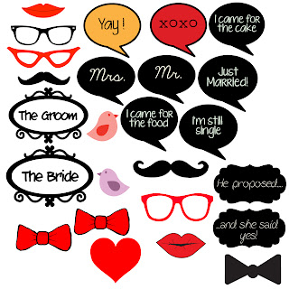 ... : Photo booth props and alternative for guestbook