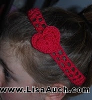 FREE Crochet Pattern for Heart Headband
