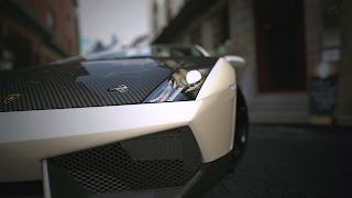 Superb Lamborghini Car Carbon Hood HD Wallpaper