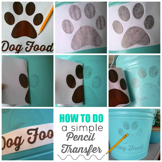 Simple DIY Shabby Chic Dog Food Tin + Free Printable Template #1StopPetShop