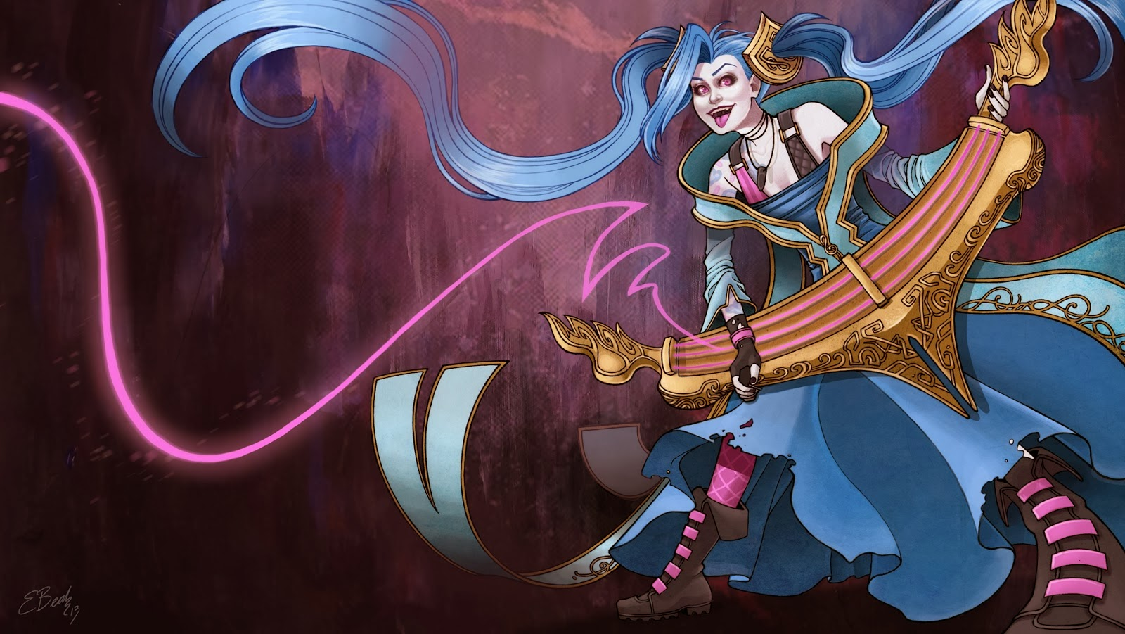Jinx Lol Wallpaper Jinx League of Legends Wallpaper Jinx Desktop Wallpaper