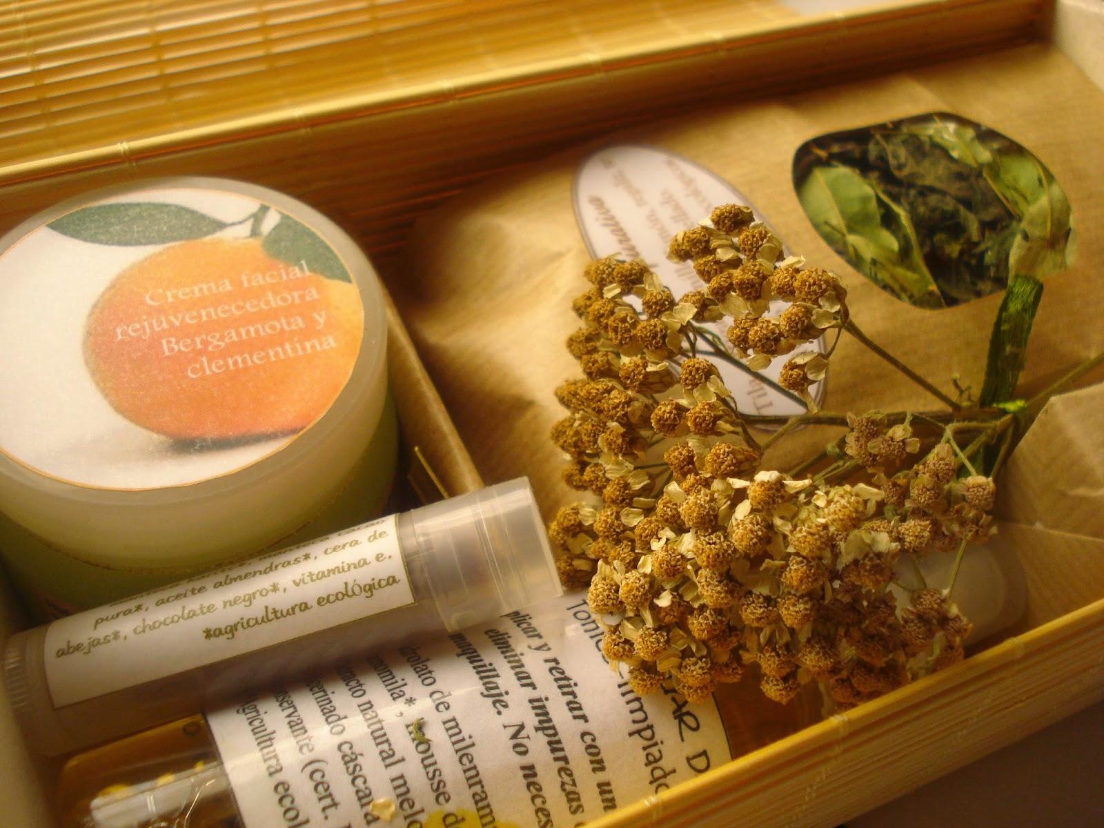 Caja regalo artesanal cosmética ecológica