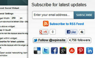 Premium Social Media Subscription Widget For Blogger/Wordpress Blog
