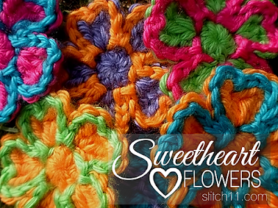 free crochet pattern valentine's day flower