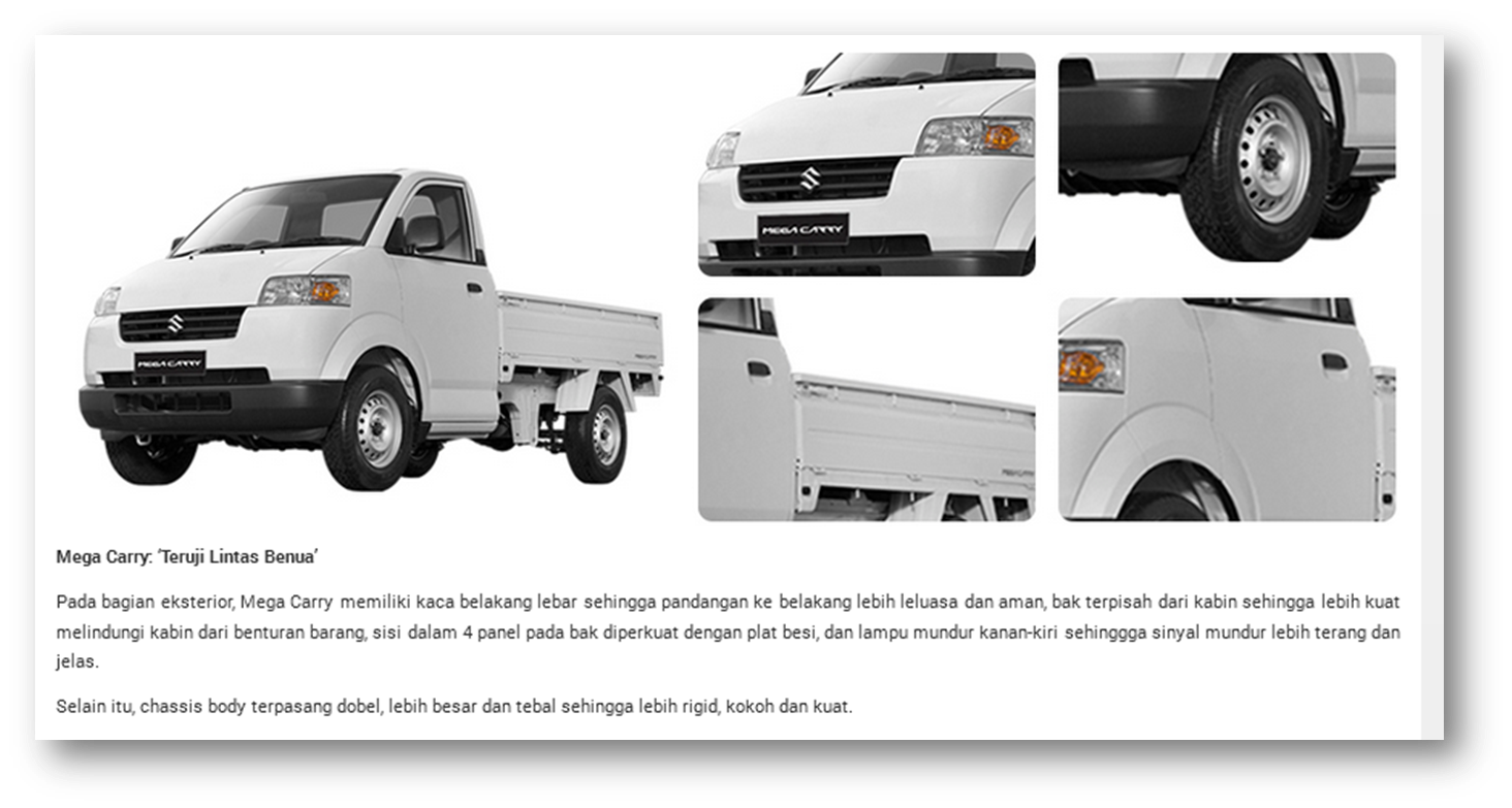 SUZUKI MEGA CARRY EXTERIOR FEATURE