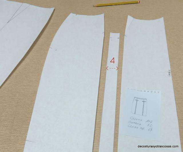 como modificar molde falda recta