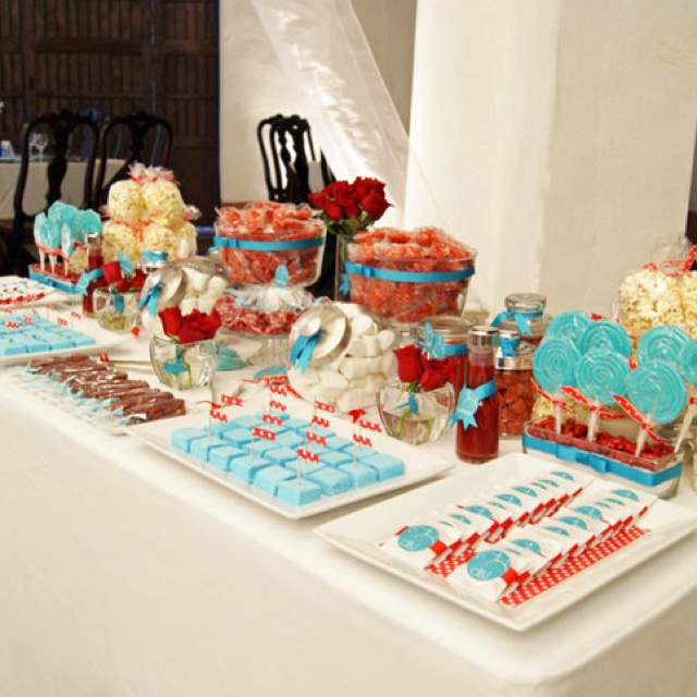 CAndy bar azul y naranja