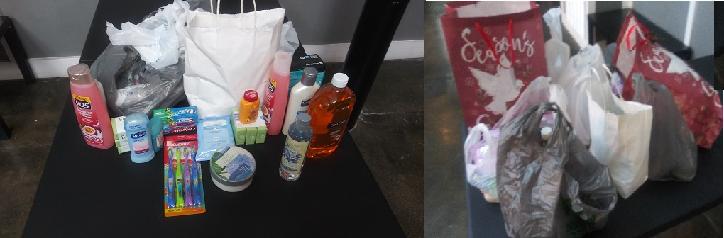Donated items by CAOT supporters at a 2019 CAOT Christian book tour stop!