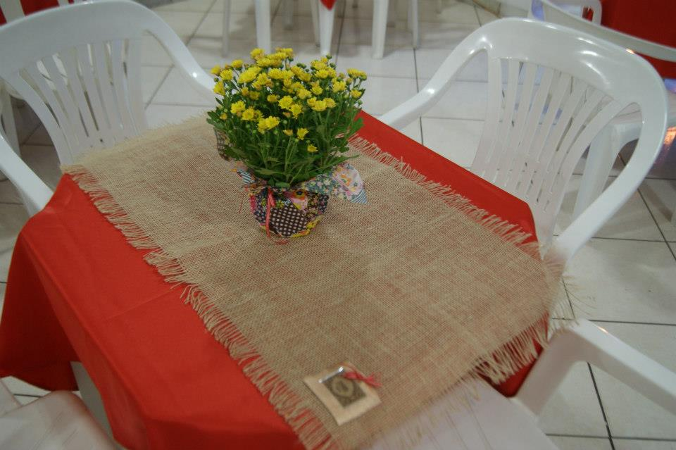 assim ficaram as mesas aguardando os amigos queridos!
