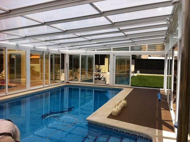 Oferta del mes en cubierta para piscina con techo movil web cubiertas madrid 644 34 87 47 - Techo piscina cubierta ...