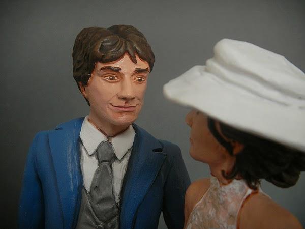cake topper sposini torta matrimonio volti reali visi realistici orme magiche